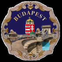 HŰTŐMÁGNES KERÁMIA TÁNYÉRKA 8CM BUDAPEST,LÁNCHÍD