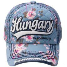 RR Női baseball sapka Hungary feliratos színes, virágos Lilla-E