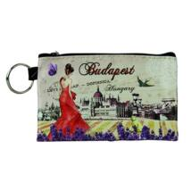 PÉNZTÁRCA MINI KEPES BUDAPEST - Budapest,levendulás
