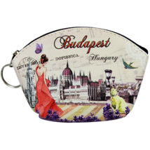 PÉNZTÁRCA KEPES KICSI BUDAPEST ÍVES - Budapest,levendulás