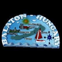 HŰTŐMÁGNES KEPES POLIRESIN Balaton, térkép