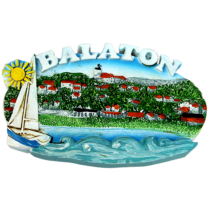 HŰTŐMÁGNES KEPES POLIRESIN Balaton, vitorlás