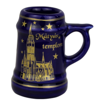 KORSÓ KICSI KERÁMIA ÚJ Kék, Mátyás templom