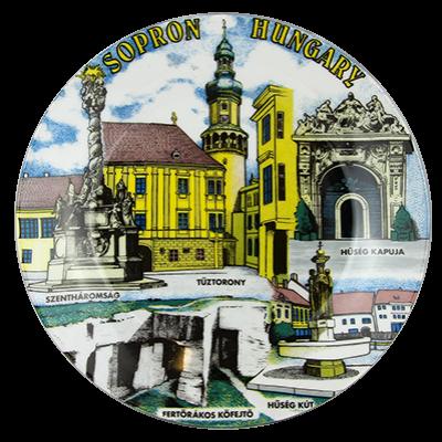 FALITÁL PORCELÁN KÖZÉP 19CM-Sopron