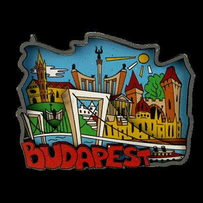HŰTŐMÁGNES 3D CARTOON BUDAPEST, LÁNCHÍD,ERZSÉBET HÍD Erzsébet híd