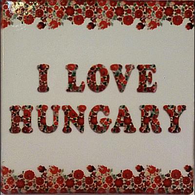 HŰTŐMÁGNES KERÁMIA I LOVE HUNGARY+MATYÓS 7,5*7,5CM