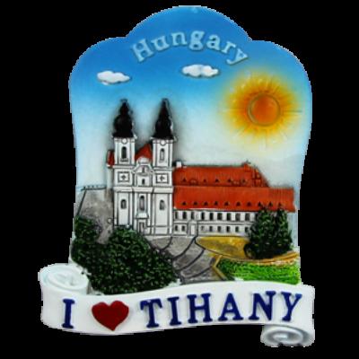 HŰTŐMÁGNES KEPES POLIRESIN I love Tihany