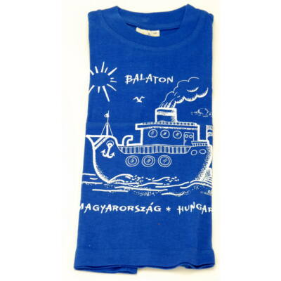 PÓLÓ GYEREK LOVAS/HAJÓS Gőzhajó, Balaton felirattal, kék