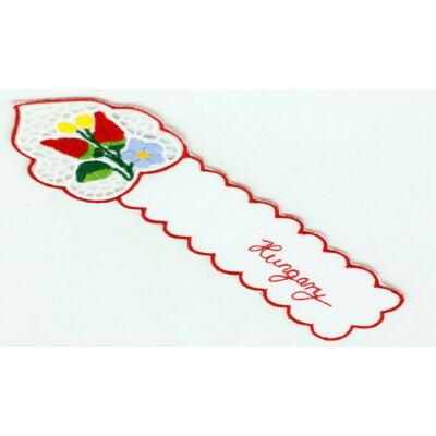 KÖNYVJELZŐ RISELT KALOCSAI Hungary felirattal, piros, csomagolt