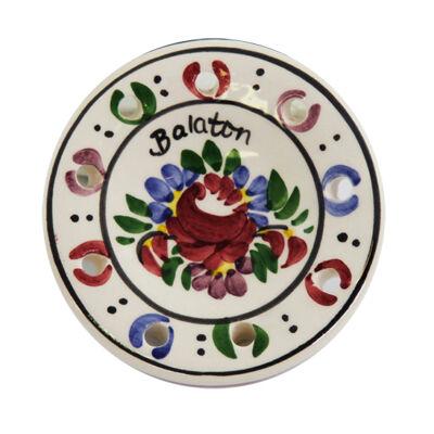 HŰTŐMÁGNES VÁROSLŐDI KERÁMIA, tányér, Balaton felirattal