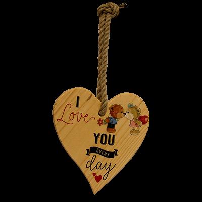 SZÍVECSKE FA, SZEZONÁLIS  DEKORÁCIÓVAL I love you - macis