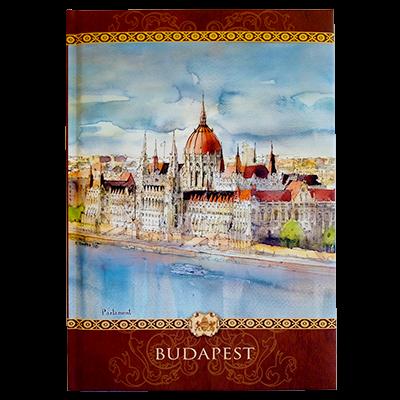 NOTESZ L. BUDAPESTES, NAGY, SZÍNES GRAFIKÁVAL - Parlament