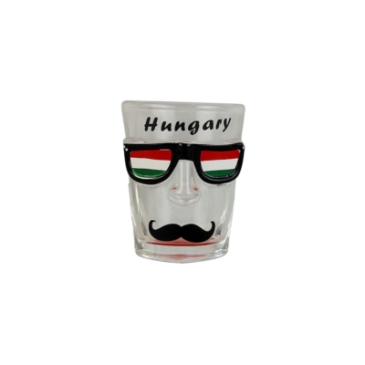 POHÁR KEPES STAMPEDLI BIKINI, BALATON - Hungary, bajusz